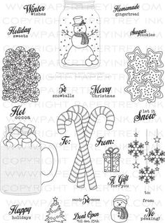 PapertreyInk - Stamp - Friendship Jar Holiday Fillers