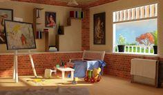 Artist Work Spaces Designes | Space Designs with Contemporary Interior artistic art work space ...