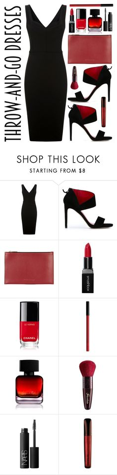 """""""Dress it Up"""" by youaresofashion ❤ liked on Polyvore featuring Victoria Beckham, Stuart Weitzman, Smashbox, Chanel, NYX, The Collection by Phuong Dang, Guerlain, NARS Cosmetics, John Lewis and easydresses"""