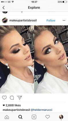 Fall bridal makeup natural ideas for 2019 - Prom Makeup For Brown Eyes Bridal Makeup Looks, Bridal Hair And Makeup, Bride Makeup, Wedding Hair And Makeup, Dramatic Wedding Makeup, Glam Makeup, Eye Makeup, Hair Makeup, Airbrush Makeup