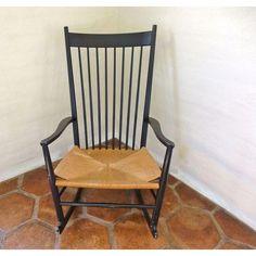 Image of Hans Wegner J16 Rocking Chair.  Authentic.  Used.  $1,200 Chairish.  https://www.chairish.com/product/56426/hans-wegner-j16-rocking-chair?utm_content=Accent&utm_source=google&utm_medium=cpc&utm_campaign=Purchasing_Site_PLA_PLA_Local_Shopping&gclid=CPbK2tK-nMICFUEV7AodhS0AbA