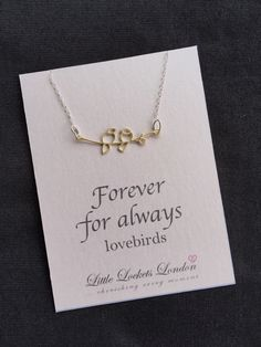 A personal favourite from my Etsy shop https://www.etsy.com/uk/listing/269030893/gold-lovebirds-charm-pendant-forever-for