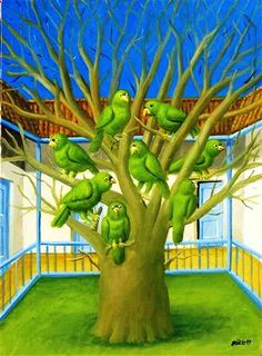 Fernando Botero (Colombian, b. - The Dead Tree, oil on canvas, x cm Diego Rivera, David Hockney, Frida Diego, Spanish Painters, Silhouette, Naive Art, Drawing, Artist At Work, Art Oil