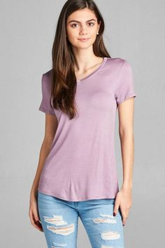 V Neck Tee - Multiple Colors