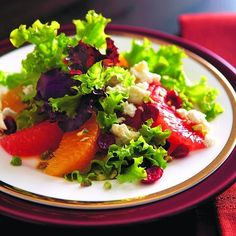 Elegant citrus saladThis salad shines with bright orange and grapefruit segments, with a sprinkling of dried cranberries.