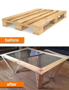 You can even turn a wooden palette into a sexy coffee table.