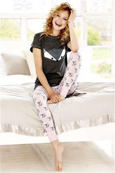 Fox Print Legging Pyjamas