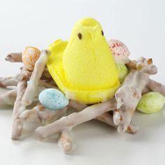 Easter birds nests.    http://www.tasteofhome.com/recipes/bird-nests