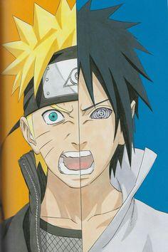 Naruto e Sasuke Anime Naruto, Naruto Shippuden Sasuke, Naruto Kakashi, Naruto Fan Art, Naruto Teams, Anime Manga, Naruto Wallpaper, Wallpaper Naruto Shippuden, Naruto Tattoo