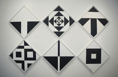 Installation view of Ward Jackson: Black & White Diamonds 1960s, MINUS SPACE, Brooklyn, NY, 2014