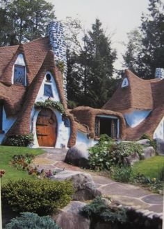 """""""the storybook house,"""" built in the 1980s by richey and karen morgan.  in olalla, washington."""