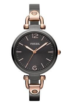 Fossil 'Georgia' Round Dial Bangle Watch, 32mm available at Nordstrom