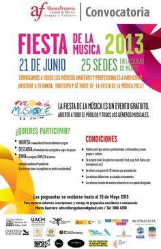 ¡Inscribe a tu banda, participa y sé parte de la Fiesta de la Música 2013 !