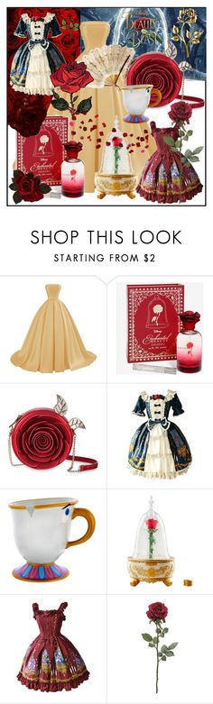 """""""Beauty and the Beast"""" by shoptrendyselfies ❤ liked on Polyvore featuring Disney, Laredo, french, disney, belle, fairytale and BeautyandtheBeast"""