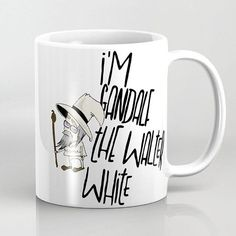 #gandalf the #walterwhite  FlyDesign #cup #illustration  society6.com/flydesign
