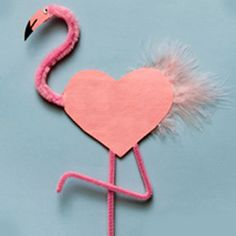 Impress your friends this Valentine's Day with this heart-inspired flamingo valentine craft from NWF. Animal Crafts For Kids, Valentine Crafts For Kids, Holiday Crafts, Fun Crafts, Preschool Crafts, Art For Kids, Preschool Ideas, Valentines Day Activities, Simple Crafts