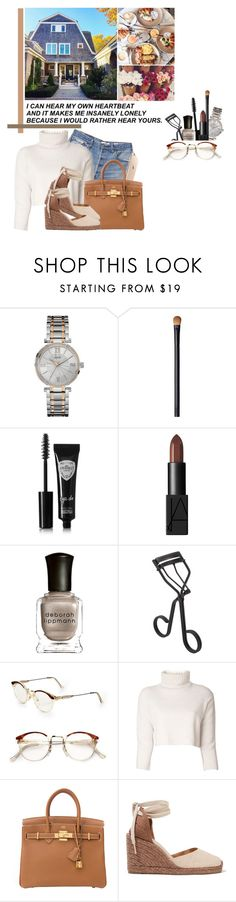 """JL✨"" by jonaticaajesy ❤ liked on Polyvore featuring GUESS, NARS Cosmetics, Eyeko, Deborah Lippmann, Surratt, RetroSuperFuture, RE/DONE, The Row and Castañer"