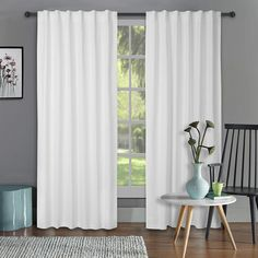 Amazon.com: 2Pack Cotton duck Slub Back tab curtain Panels 50x108 White. 100% cotton slub texture fabric curtain panels brings classic elegance in everyday functionality.: Home & Kitchen Tab Curtains, Home Curtains, Curtain Fabric, Curtain Panels, Curtain Texture, Classic Elegance, Home Kitchens, Elegant, Amazon