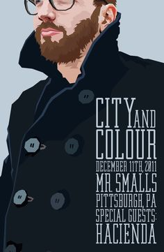 City and Colour Tour Poster by Abbe Sublett, via Behance