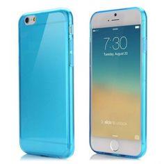 Apple iPhone 6 Plus 5.5 Inch TPU hoesje Ultradun Blauw Prijs 5,95 euro en geen verzendkosten.
