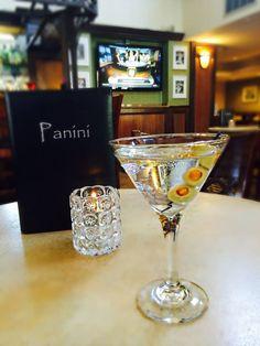 Our Panini Dirty Martini at the Panini Restaurant & Lounge located at Holiday Inn Orange County Airport- Santa Ana, CA.
