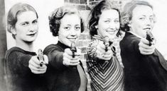 Women with pistols- love this pic! cant wait to get a pistol!