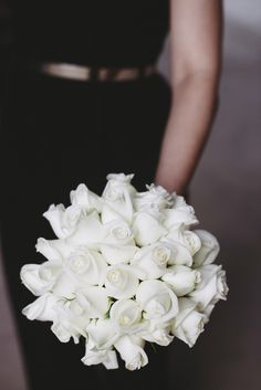Classic bouquets always stay in style! This beautiful bouquet features white roses - simple but stunning. Shop roses in a variety of colors and lengths year-round at GrowersBox.com!
