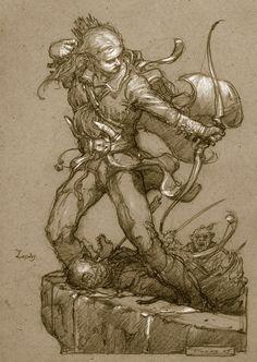 Legolas at Helm's Deep - Donato Giancola Hobbit Art, The Hobbit, Character Sketches, Character Design, High Elf, Art Journal Inspiration, Art Inspo, Jrr Tolkien, Fantasy Artwork