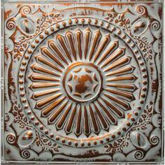 #102 Tin/Metal Ceiling Tile - Fleur De Lis 12 inch pattern