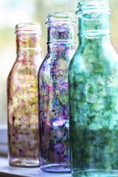 Upcycle // Cool Jar Series - Part I via bliss bloom blog (Bottle craft)