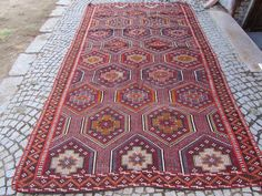 "Anatolia Goat hair Antalya Classic Kilim 67"" x 119"" Area Rug Carpet Wool #Turkish"