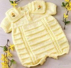Мир хобби: Комбинезон для малыша (вязание спицами)