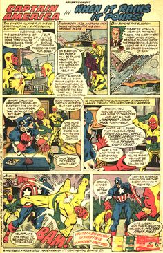 Hostess Snack Cakes Ad Captain America in When it Rains it Pours // Comic Book advertising.