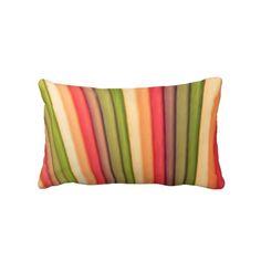 Orange Rainbow Art Lumbar Pillow by Just For Mom