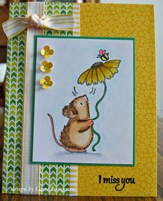 miss you card by Carol Longacre