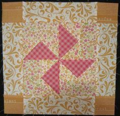 Cherry House Quilts: Block-A-Palooza block #4 Gingham Pinwheels