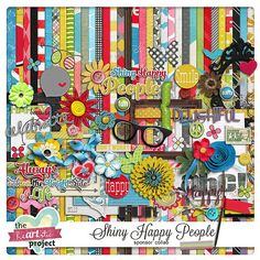 Shiny Happy People full kit freebie from The Heartistic Project
