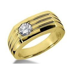 0.55 Karat Herren Diamantring aus 585er Gelbgold