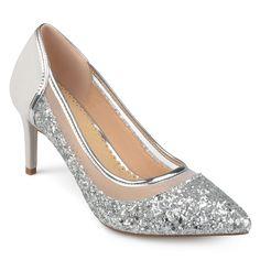 c6e6fbbd430d Journee Collection Women s  Kalani  Almond Toe Glitter Mesh Heels