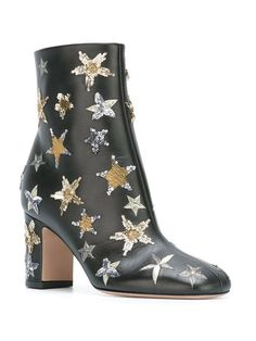 Valentino Valentino Garavani star embellished ankle boots