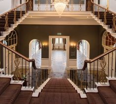 The gorgeous staircase in Rudding Park