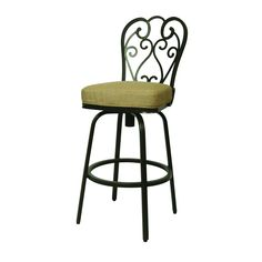 The Magnolia outdoor swivel barstool has an aluminum frames upholstered in Sunbrella fabric. This beautifully designed outdoor barstool with its engaging mix of color and texture will take your outdoor living to a whole new level.