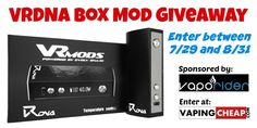 Enter the VRDNA DNA40 Box Mod Giveaway at https://wn.nr/rVdYp