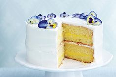 Triple-Lemon Layer Cake—Special occasions call for special desserts, and this one fills the bill. Moist lemon cake, a bright lemon custard and a simple lemon icing come together to create the ultimate springtime dessert. Look for edible flowers at cake-supply stores. If unavailable, use sugar-coated gumdrops instead.