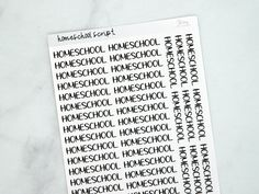 Homeschool Script Stickers - Block
