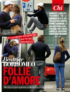 Pierre Casiraghi & Beatrice Borromeo and their son Stefano in 'Chi' Magazine
