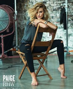 Sitting pretty: Speaking about the campaign, Rosie said, 'I loved having the opportunity to work with the Paige team again'