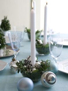 Top 100 Christmas Table Decorations - Christmas Decorating - sometimes simple is best a low cost and easy way to decorate a holiday table