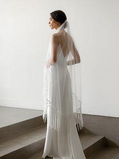 The Best Places To Buy Bridal Veils | OneFabDay.com Ivory Wedding Veils, Wedding Dresses, Bridal Veils, Simple Veil, Whimsical Dress, Drop Veil, Elegant Bride, Tulle, Boho