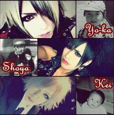 Yo-ka. Shoya. Kei. DIAURA / Omg, so cute! Who found this stuff though? Stalkers..... XD